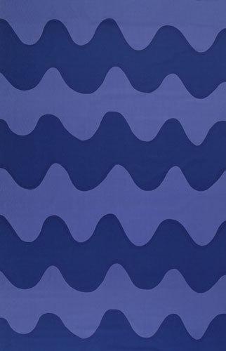 Lokki blue interior fabric by Marimekko