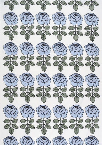 Maalaisruusu blue interior fabric by Marimekko