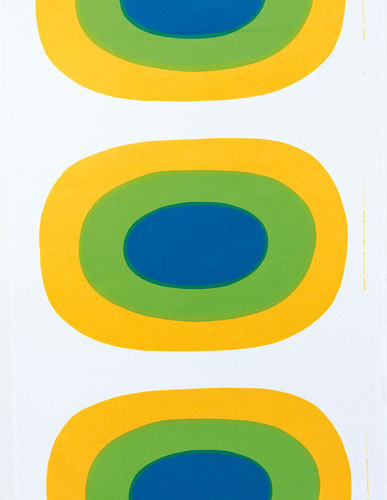 Melooni yellow interior fabric by Marimekko