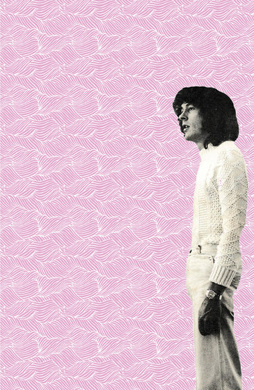 Sheba bubblegum wallpaper by Flavor Paper