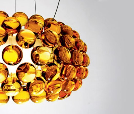 Caboche table small yellow-gold by Foscarini