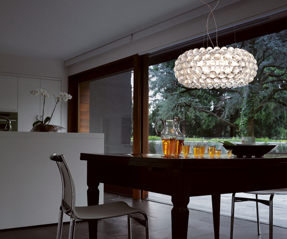 Caboche suspension big yellow-gold by Foscarini
