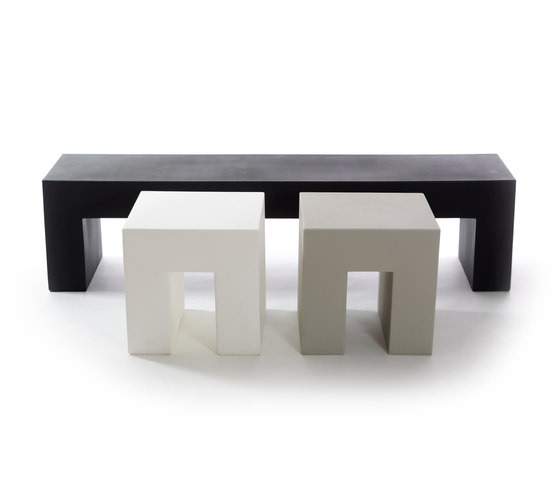 Vignelli Big Bench | Model 1031 | Light Grey by Heller