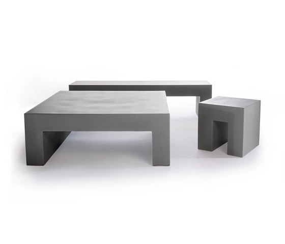 Vignelli Low Table | Model 1032 | Light Grey de Heller