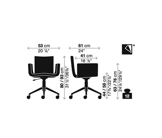 Mantis Swivel chair by Kristalia