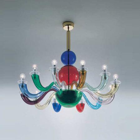 lampadario mazzega per venini : Bellissimi anche i lampadari della veneta Flaver, distante e insieme ...