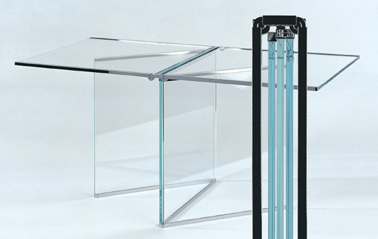 Tio Foldable Glass Side Table by Gioia