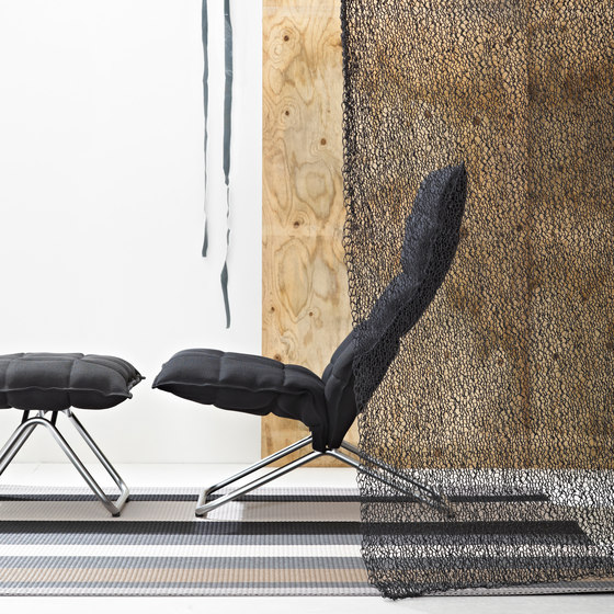 k chair | narrow | with k Ottoman by Woodnotes