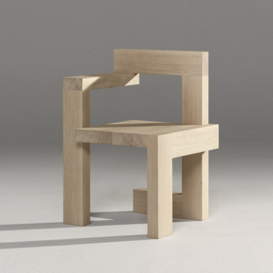 Steltman Chair by Rietveld by Rietveld