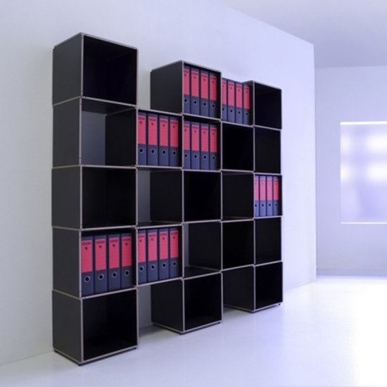 Stapler shelving system by mobilia collection