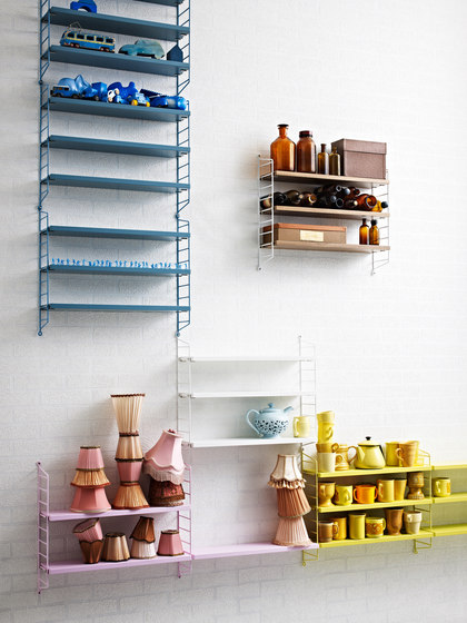 string pocket blue shelves by string furniture architonic. Black Bedroom Furniture Sets. Home Design Ideas
