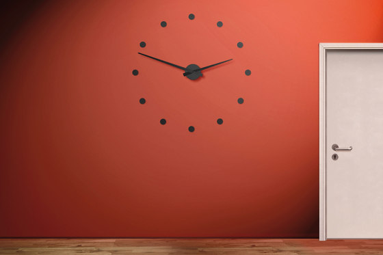 wall clock stainless steel di Radius Design