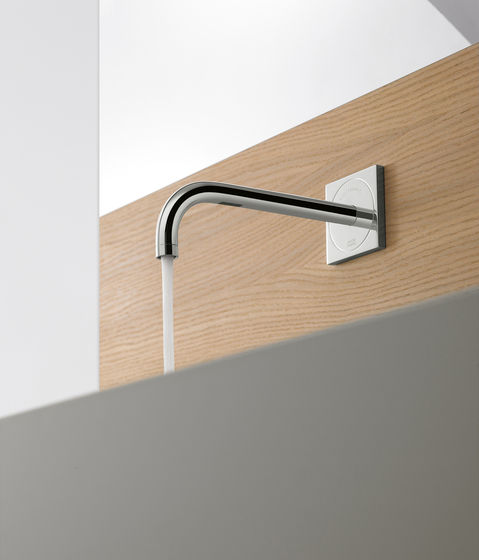 AXOR Uno Single Lever Basin Mixer for concealed installation with plate and spout 165 mm wall mounting DN15 by AXOR