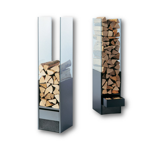 Wood Storage Unit Glass by Tonwerk Lausen AG