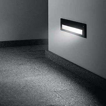 Recessed wall luminaires 2115/2116/2117 by BEGA