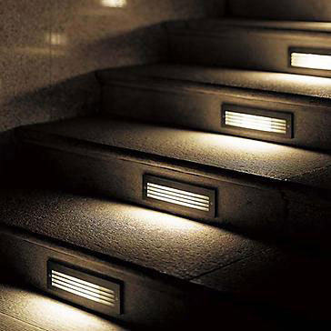 Recessed wall luminaires 2190/2195/... by BEGA Recessed wall