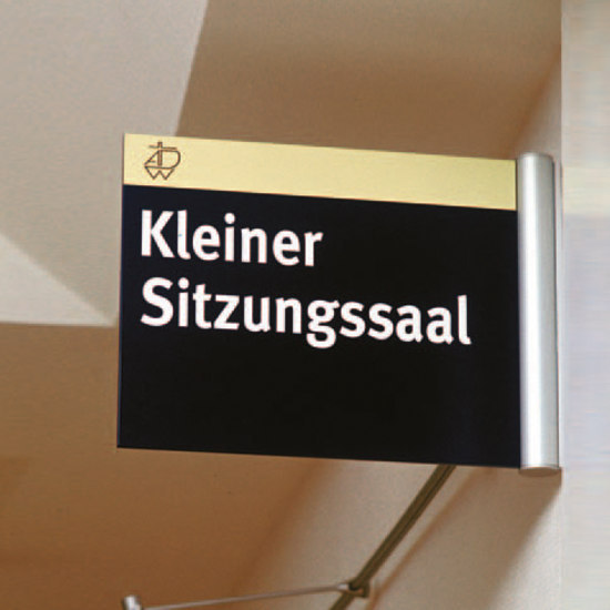 tube+panel Flag sign by Meng Informationstechnik
