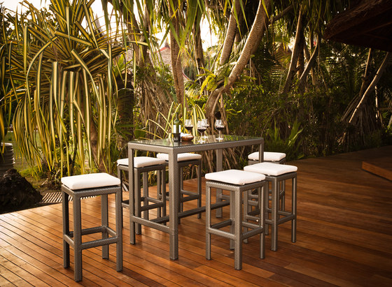 Soho Bar table & stools by DEDON