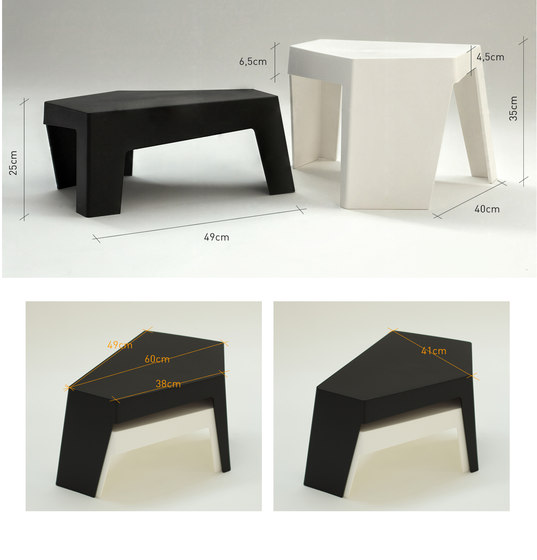 Maze Side table low by Quinze & Milan