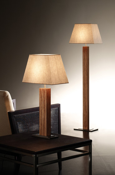 Tau wood table lamp by BOVER