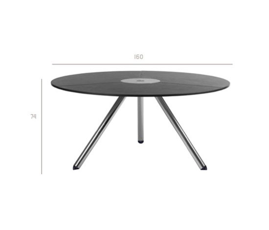 Zenith Round table by Tribù