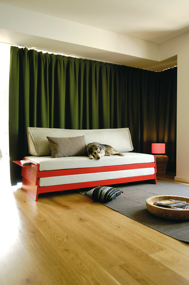Lönneberga MDF stacking bed by Richard Lampert