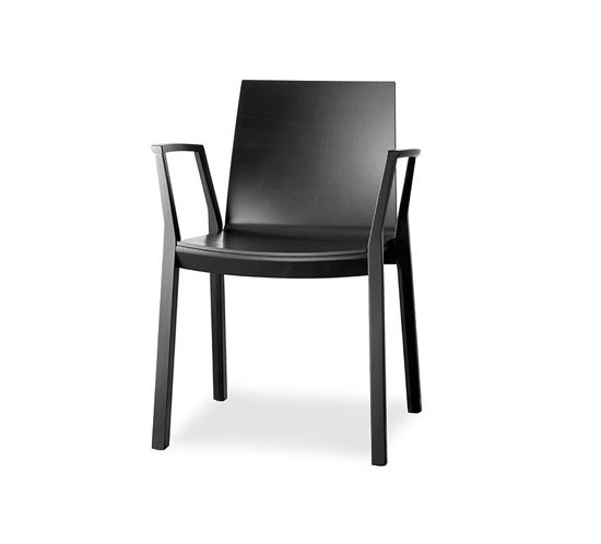 arta stacking chair with arms by Wiesner-Hager