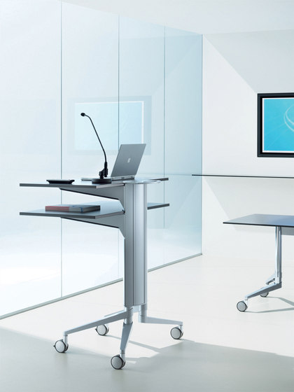 flex-table Media Trolley by Wiesner-Hager