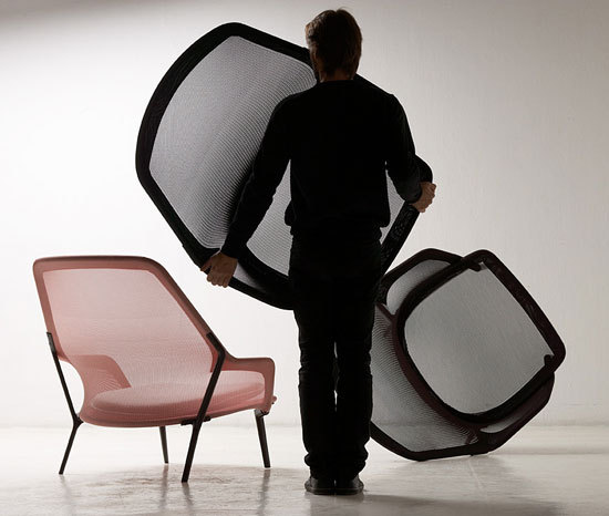 Slow Chair & Ottoman by Vitra
