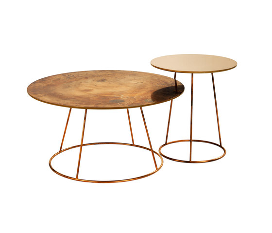 Breeze copper coffee table de Swedese