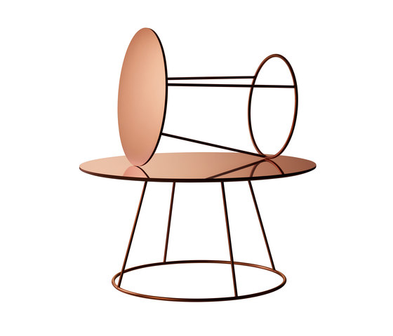 Breeze copper side table by Swedese