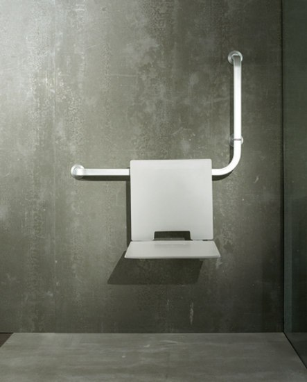 Folding Shower Seat Suspended On Grab B Shower Seats