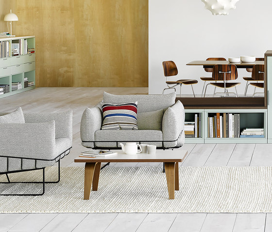 Eames Molded Plywood Coffee Table Metal Base by Herman Miller