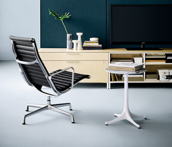 Eames Aluminum Group Ottoman by Herman Miller