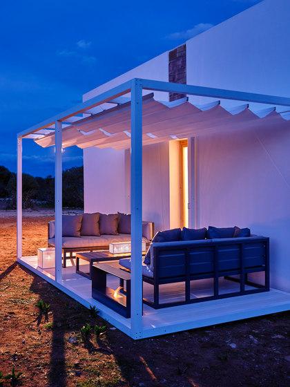 Módulo | Module Floor Movable Canvas Roof by GANDIABLASCO