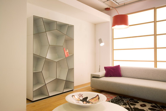 Pattern bookcases by Quodes
