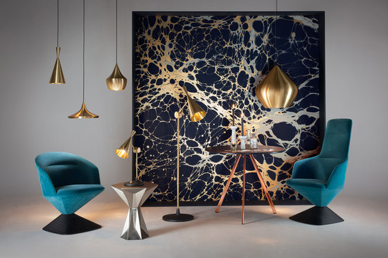 Beat Wide Pendant Black by Tom Dixon