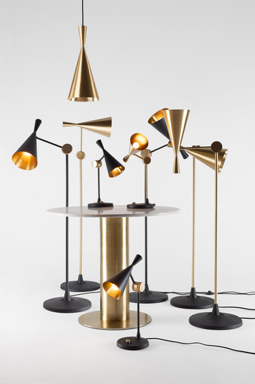 Beat Wide Pendant Black de Tom Dixon