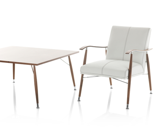 Sahara Wood Easy Chair by Lammhults