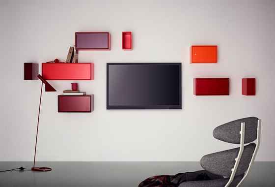 Montana TV Hifi living high red* by Montana Møbler