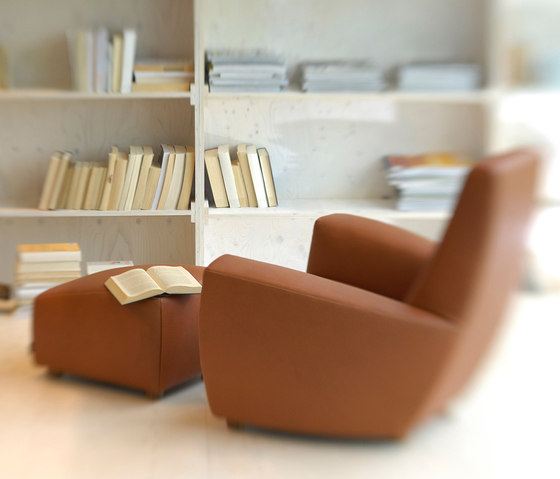 Longa armchair with footstool by Label