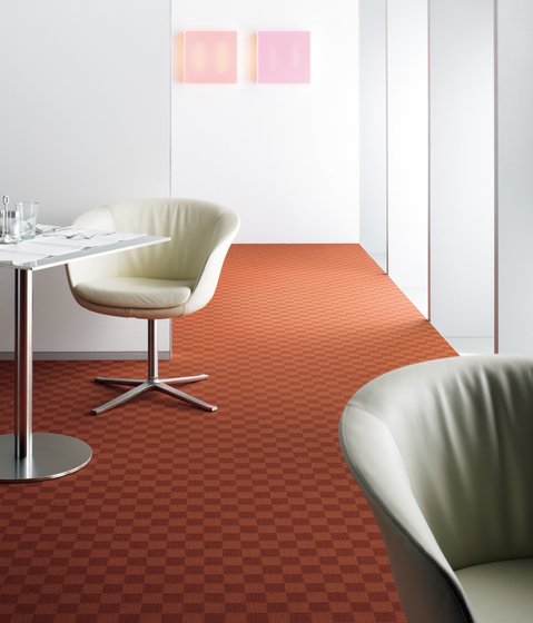Sqr Nuance Square Terracotta by Carpet Concept