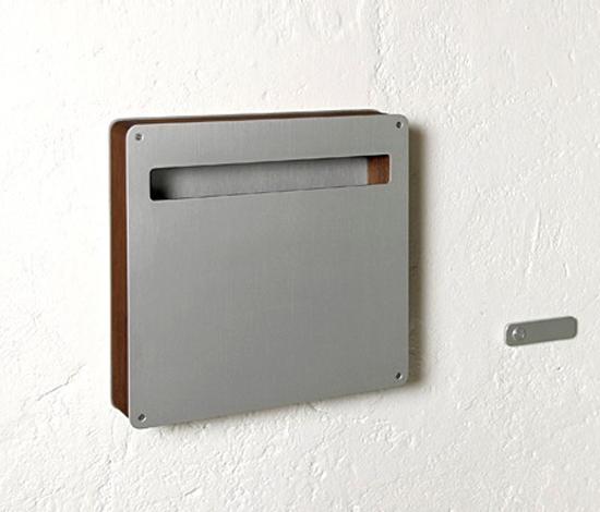 Teak Top  letterbox by Serafini