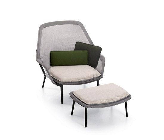 slow chair ottoman by vitra inc usa product. Black Bedroom Furniture Sets. Home Design Ideas