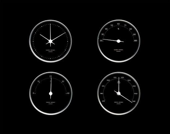 Koppel Clock Ø 10 cm de Georg Jensen