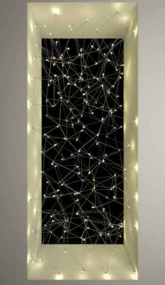 Universe Square suspended lamp by Quasar