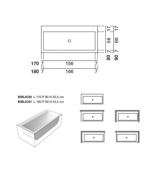 Vasca da bagno tradizionale misure design casa creativa - Misure standard vasche da bagno ...