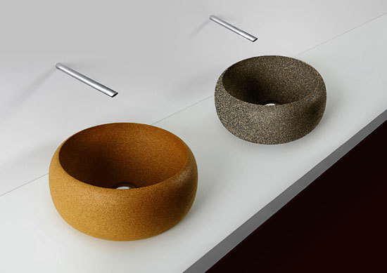 Cork wash basin by Simpleformsdesign