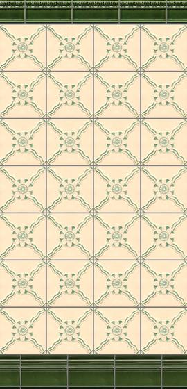 Art Nouveau wall tile F11 de Golem GmbH