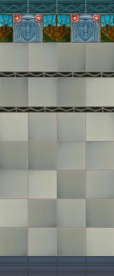 Art Nouveau wall tile F42 by Golem GmbH